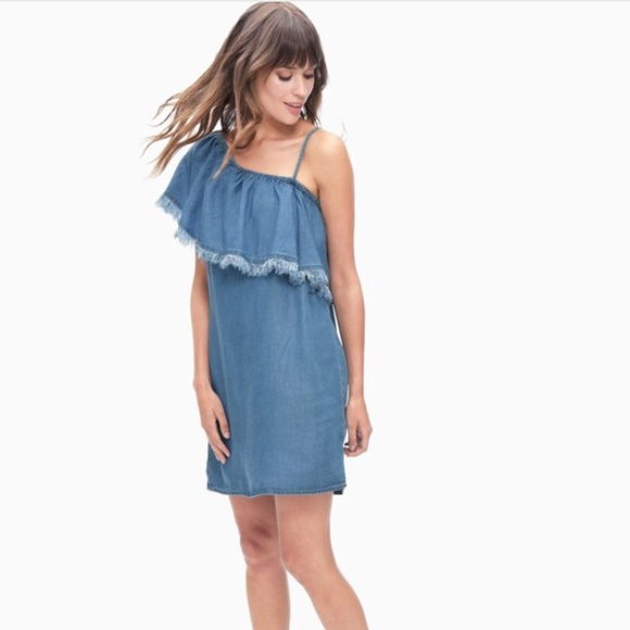 9cbe0e035e46 Splendid Indigo One Shoulder Denim Dress NWT. M 5af7b8033afbbd4568544620